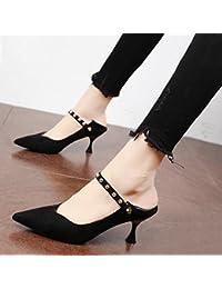 Xue Qiqi Pumps Personalisierte Niet schwarze Spitze satin fein mit high-heel Schuhe tide Nacht Frauen Schuhe rot...