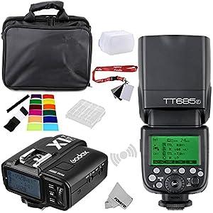 Fomito Godox TT685F TTL 2.4GHz Wireless Master/External Flash Speedlite & X1T F transmitter Trigger HSS for Fuji Fujifilm Camera …