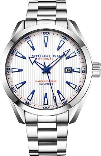Stuhrling Originale orologio uomo analogico con quadrante analogico - Cinturino in pelle...