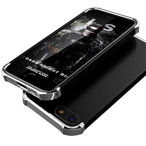 iPhone X Coque, WindCase 3 en 1 Anti-égratignures PC Chrome Antichoc Etui Rigide en Plastique Protection Case pour iPhone X Bleu Or Noir Argent