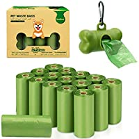 ‏‪VanStar Biodegradable Scented Pet Waste Bags Thick Dog Waste Poop Bags with Dispenser, 16 Rolls, Total of 240‬‏