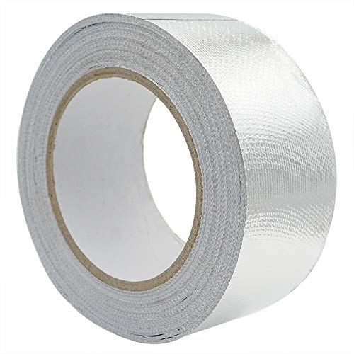 Aluminium Tape self-Adhesive Aluminium Tape thermoshield Heat Protection  Tape, Aluminium Adhesive Tape Reinforced with a Glass mesh Fabric, 50 mm x  25