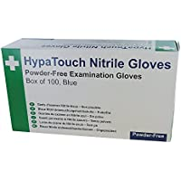 HypaTouch Medium Powder Free Nitrile/Disposable/Blue Gloves - Box of 100