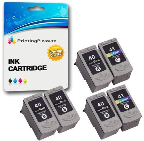 6 Druckerpatronen für Canon Pixma iP1600 iP1800 iP1900 iP2200 iP2500 iP2600 MP140 MP150 MP160 MP170 MP180 MP190 MP210 MP450 MP460 MX300 MX310 | kompatibel zu PG-40 (PG40) CL-41 (CL41) -
