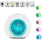 Digital Pantalla LED despertador, despertador Wake Up Luz Luz Despertador con luz Premium Digital Display Modelo para adultos, niños & adolescentes Relojes para casa y viajes