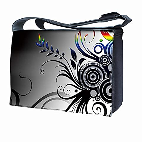 Luxburg Design sac bandoulière pour ordinateur portable 17Avec Bandoulière–Arc-en-ciel