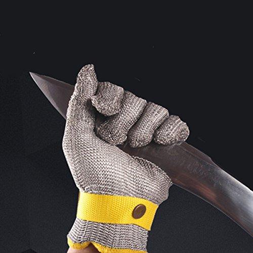 TuToy Edelstahldraht-Sicherheits-Golfen Cut Proof Stab Resistant Metal Mesh Handschuh Klasse 5 - Xs
