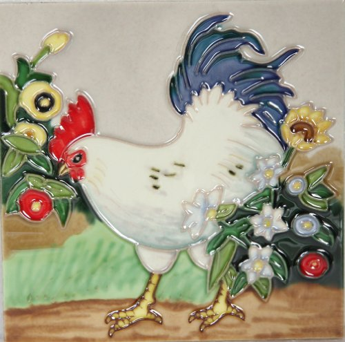 yh-arts-rooster-2-ceramic-tiles-multi-colour-6-x-6-inch