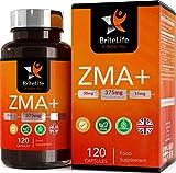 ZMA+ (integratori di zinco, magnesio e vitamina B6) | TESTOSTERONE INTEGRATORE UOMO BOOSTER IMMUNITARIO | BriteLife | 120 capsule gel vegane, 125 mg per porzione - 1 mese di fornitura