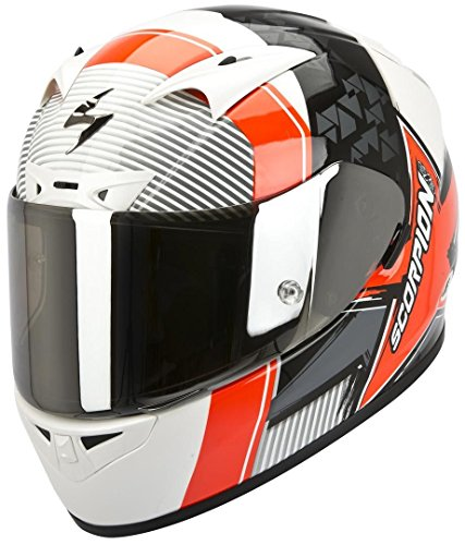 Scorpion EXO-710 Air Crystal Bianco Perla-Neon Rosso Gr.M (58) Casco da Moto