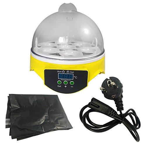 7 Eier Inkubator Brutkasten Brutapparat Flächerbrüte Brutautomat Brutmaschine (7 Eiers)
