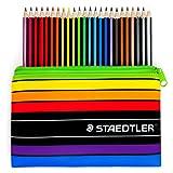 Staedtler–Noris Couleur–24x Wopex Crayons de couleur et trousse assortie–185C24