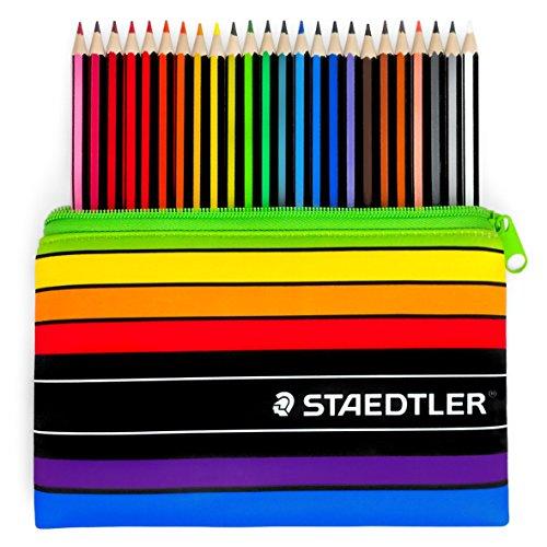 Staedtler–Noris Farbe–24x Wopex Buntstifte und passendem Bleistift Fall–185C24