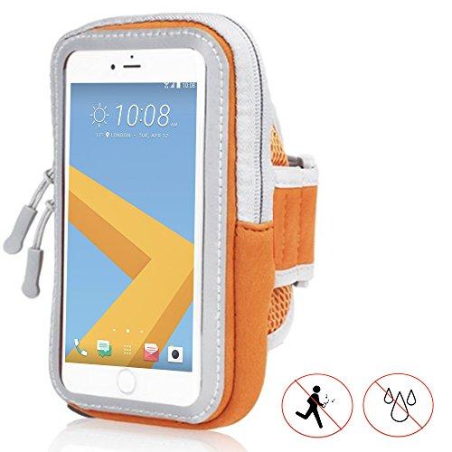 Handy Schutzhülle Tasche | für Switel Cute S3510D | Sport armband zum Laufen, Joggen, Radfahren | SPO-1 Orange