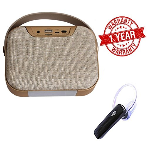 MacBerry Micromax Canvas Juice 2 Compatible Portable Bluetooth wireless Speaker with Wireless Stereo Headset ( Random Color)  available at amazon for Rs.1749