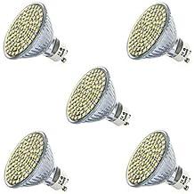5pcs 80LEDs SMD2835 LED Proyector GU10 / MR16 fresco / la iluminación blanca caliente del LED (AC220-240V) ( Conector : GU10 , Color de Luz : Blanco Frío )