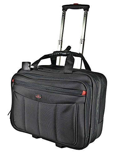 Business trolley Laptop Bag Flight Pilot Cabin Case, Spacemaker Bag Laptop Trolley Bag With Laptop Compartment 17 Inches Suitcase Wheeled Hand Luggage