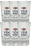 Yeni Raki Shot Gläser 6er Set mit Eichstrich