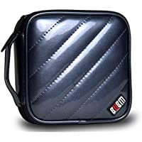 Homeself capacità 32, in pelle sintetica Pu, per CD/DVD, CD/DVD-Organizer per borsa da viaggio