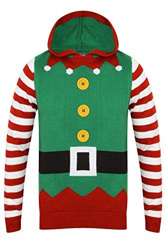 Seasons Greetings Herren Pullover Elf Suit - Dunnes Green