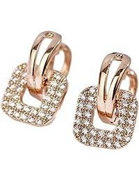 Hosaire Pendientes de Cuadrada de Cristal Moda Muchachas de las Mujeres Pendientes de Botón Nuevo Estilo para Mujeres de la Joyería Accesorios