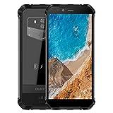 Rugged Smartphone in Offerta 4G OUKITEL WP1-2019 Dual SIM Smartphone da esterno 5.5 pollici (18:9 ratio) 4+64GB Android 8.1 IP68 Impermeabile/Antipolvere, Batteria 5000mAh, GPS/Fingerprint- Nero