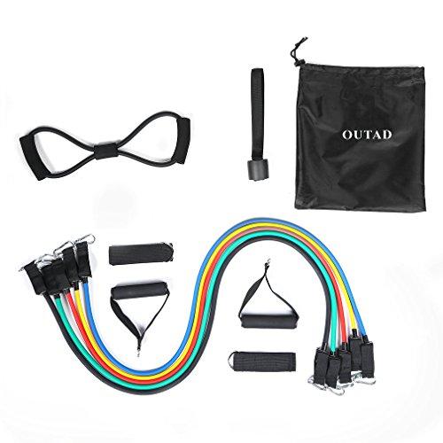 outad Widerstand Bands Set Door Anchor Befestigung für Übung bands-ankle Straps für Gewicht Lifting Yoga Pilates ABS Stretch Fitness Gym, 12 PCS