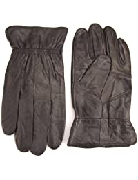 Lorenz Quality Genuine Black Leather Gents Glove - Large