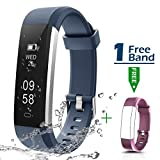 Fitness Armband, CHEREEKI Fitness Tracker Smartwatch Wasserdicht IP67 Aktivitätstracker Schrittzähler Fitness Armbanduhr Schlafanalyse Kalorienzähler Anruf/ SMS Kompatibel mit iPhone und Android (Blau)