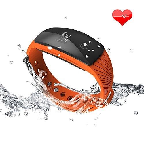 【Versione Aggiornata】RIVERSONG ® Bracciale Fitness, Resistente all'acqua