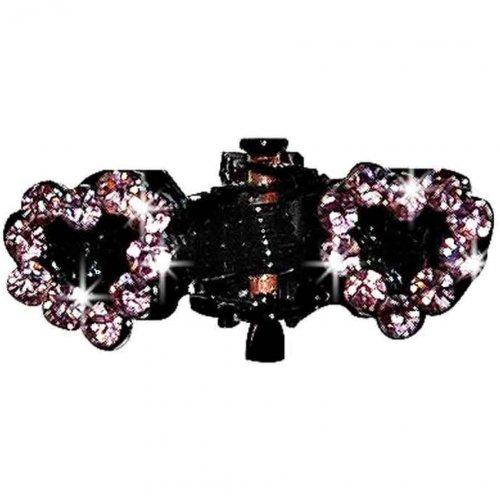Artikelbild: Haarspange Strassherz rosa 2cm von Vivog