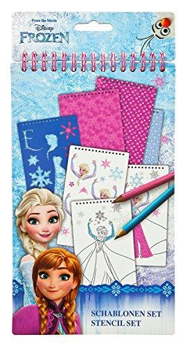 Undercover FRZH1200 - Disney Frozen, Schablonen Set, 34-teilig (Schablone Disney)