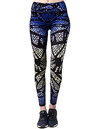 Pantalon de Yoga Femmes BARBOK Legging Pantalon Elasticite Élevée Respirant Sechage Rapide Imprimées Fitness Jogging Sport Stretch pantalon
