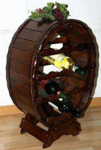 Massivholz Weinregal Flaschenregal Weinfass 12 Flaschen Holz Fichte massiv kolonial