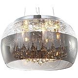 Cristal LED plafonnier suspension lampe lustre pendentif éclairage lumière abat-jour verre salle à manger désign moderne Ø 40