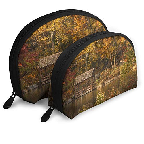 Central Park New York United States Shell Portable Bags Clutch Pouch Cosmetic Makeup Bag Pouch 2Pcs Central Zip