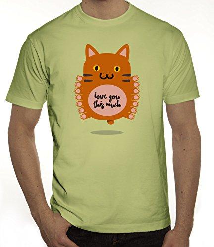 Geschenkidee Herren T-Shirt mit Love You This Much Motiv von ShirtStreet Limone