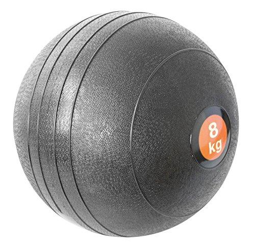 Slam Ball 8kg schwarz Medizinball Krafttraining Bootcamp Gewichte schwarz