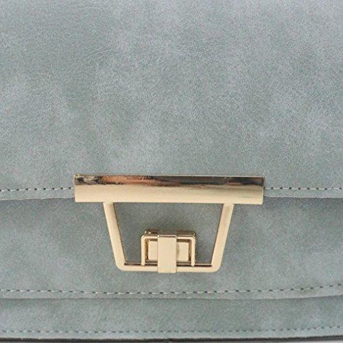 BZLine® Frauen Schulter Tasche Tote Damen Handtasche Small Square Taschen, 20cm*8cm*15cm Blau