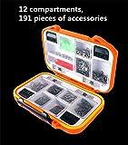 CFtrum 191 pcs/box (12 Compartments) Fishing Tackle Box - Best Reviews Guide
