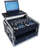 Tego Pro 27316 Winkelrack 6/8HE mit Laptop Ablage - Kombi Case, L-Rack, DJ Rack