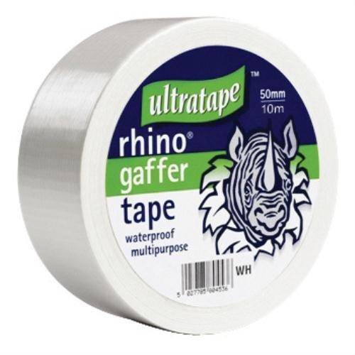 Rhino 50 mm 10 mtr vielfachen Tapewhte Gaffer