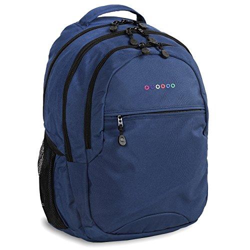 J World New York Cornelia Laptop Backpack Sac à Dos Loisir, 19 cm, 29.5 liters, Multicolore (Navy)