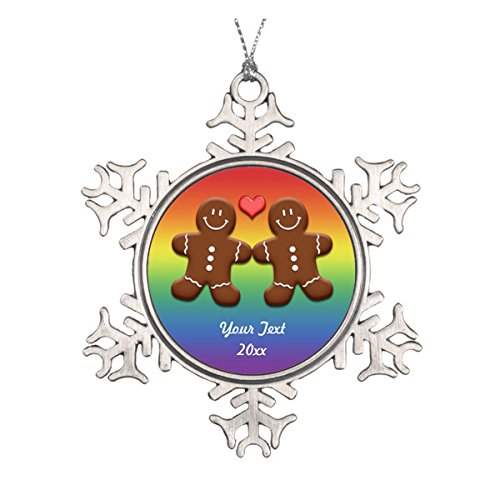 Daily Lady Personalisierte Lebkuchen Herren Rainbow Ornament