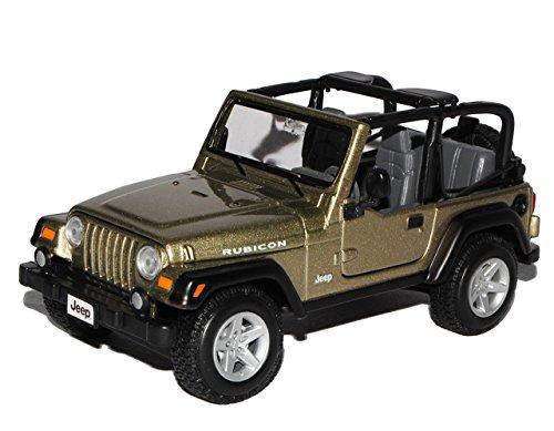 Maisto Jeep Wrangler Rubicon Khaki Braun 1/24 Modell Auto - Jeep Wrangler Modell Rubicon
