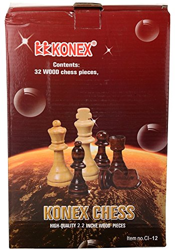 2.2 INCH - KONEX Chess wooden Coins (White & Brown), fine wood finishing.