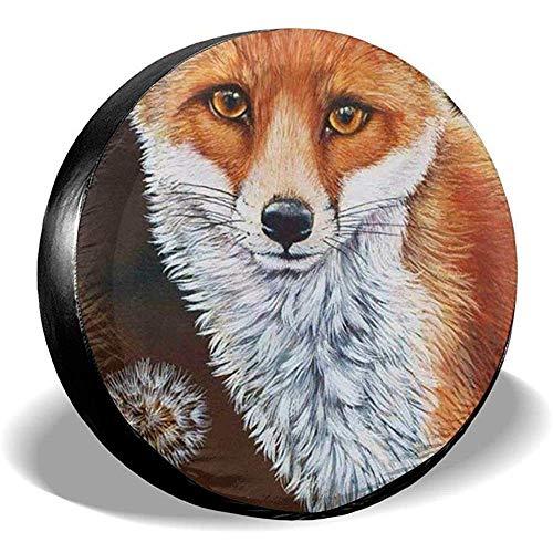 LAURE Tire Cover Accessori per Auto d'Epoca di Ricambio per copricerchi Fox Fox