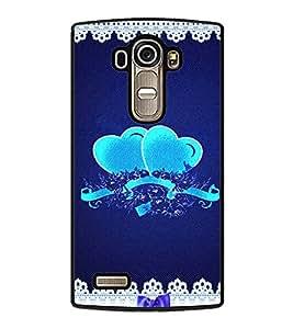 Pair of Hearts 2D Hard Polycarbonate Designer Back Case Cover for LG G4 :: LG G4 Dual LTE :: LG G4 H818P H818N :: LG G4 H815 H815TR H815T H815P H812 H810 H811 LS991 VS986 US991