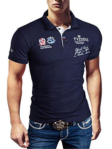 Polo Camiseta fina, de hombre, manga corta, de piqué azul oscuro 46