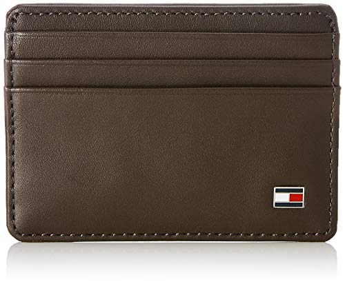 Tommy hilfiger eton cc holder porta carte di credito, 75 cm, marrone